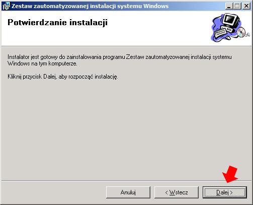 Rysunek 5. Potwierdzenie instalacji zestawu Windows AIK.