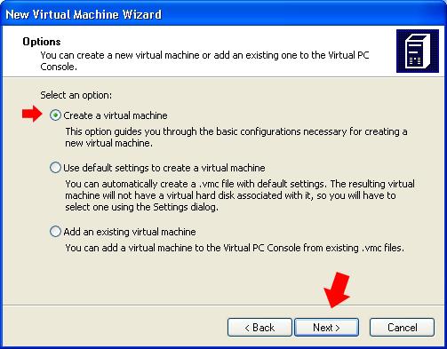 Rysunek 9. Tworzenie wirtualnej maszyny.