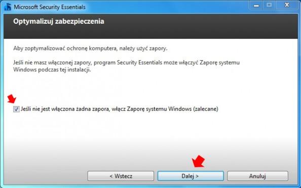 Rysunek 4. Kreator instalacji oprogramowania Microsoft Security Essentials.