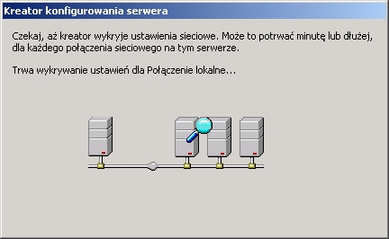 Rysunek 6. Kreator konfigurowania serwera.