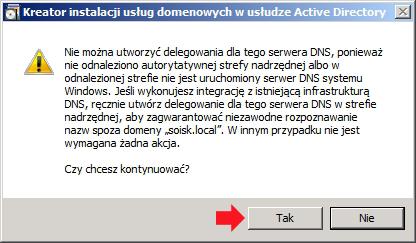 Rysunek 20. Informacja obraku usługi DNS.