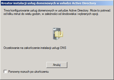 Rysunek 24. Okno konfigurowania usług domenowych wusłudze AD.