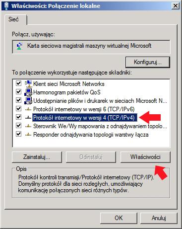 Rysunek 3. Właściwości protokołu internetowego TCP/IP/