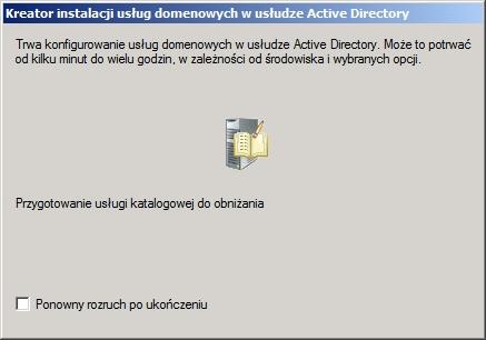 Rysunek 10. Przygotowanie usługi katalogowej dousunięcia.