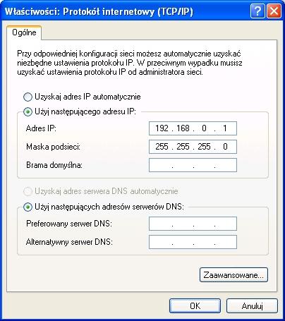 Rysunek 13. Automatycznie ustawiony adres ip.