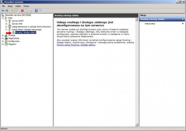 Rysunek 15. Widok skonfigurowanej usługi routingu.