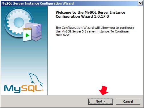 Rysunek 45. Rozpoczącie procesu konfiguracji servera SQL.