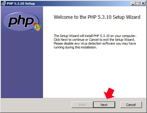 Rysunek 15. Instalacja języka PHP.