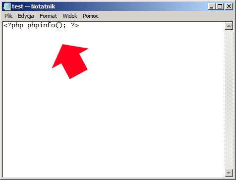Rysunek 36. Test obsługi języka php.