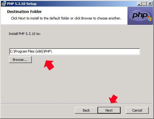 Rysunek 17. Definiowanie ścieżki instalacji modułu.