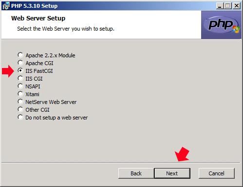 Rysunek 18. Wybór serwera.