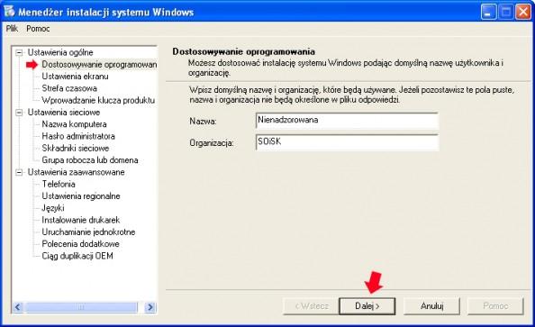 Rysunek 8. Dostosowywanie oprogramowania.