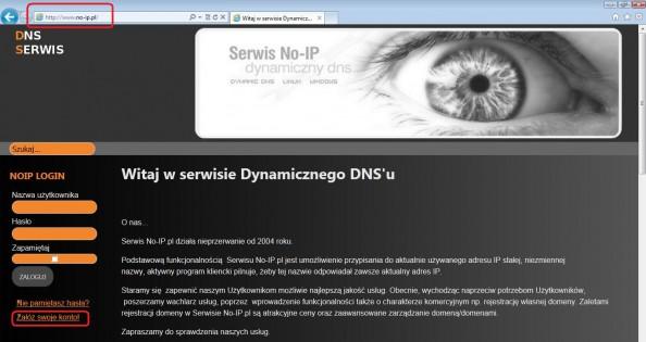Rysunek 14. Zakładanie konta wserwisie www.no-ip.pl