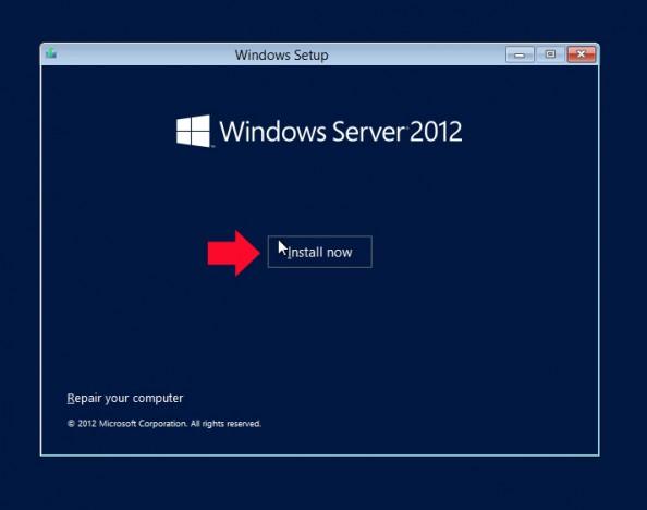 Rysunek 2. Wybór opcji install now - zainstaluj teraz.