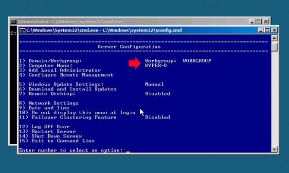 Rysunek 1. Definiowanie nazwy dla Hyper-V serwera.