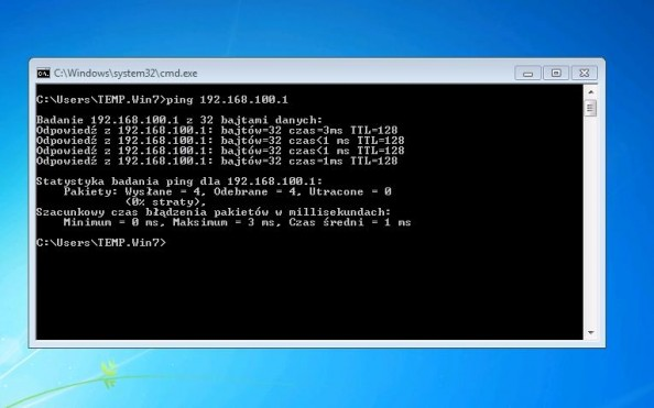 Rysunek 11. Ponowienie próby pingowania Hyper-V servera.