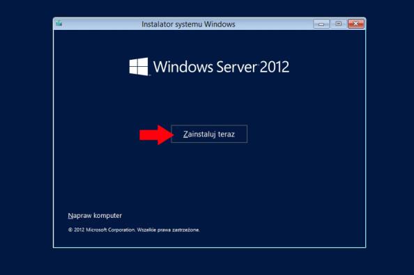 Rozpoczęcie procesu instalacji systemu.