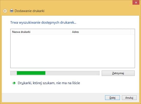 Dodawania drukarek wywołane poleceniem rundll32.exe printui.dll,PrintUIEntry /il