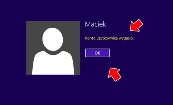Wygaśnięcie konta użytkownika.