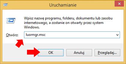 """Wywołanie przystawki """"Użytkownicy igrupy lokalne""""."""