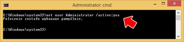 Aktywowanie konta administratora systemu.