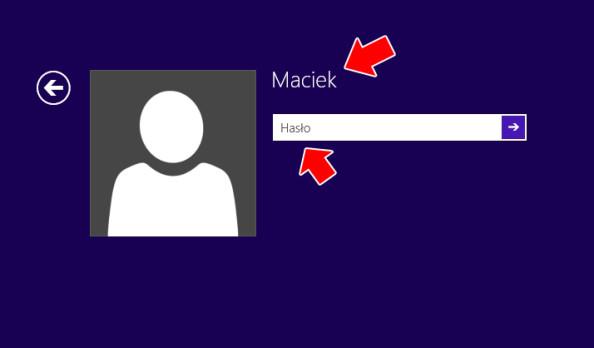 Logowanie dosystemu wymaga hasła użytkownika.