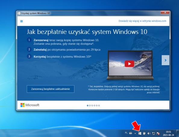 Uzyskaj system Windows 10.