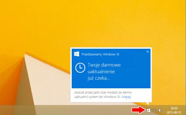 """KB 3035583 - Powiadomienie """"Uzyskaj system Windows 10""""."""