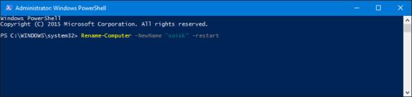 Zmiana nazwy komputera zapomocą skryptu PowerShell.