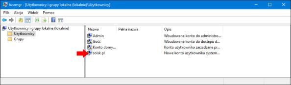 Włączanie dowolnego konta użytkownika wsystemie Windows 10.