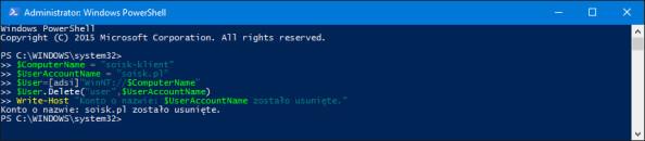 Usunięcie dowolnego konta użytkownika znajdującego się wsystemie Windows 10.