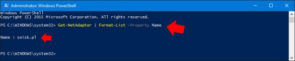 Wyświetlenie zainstalowanych kart sieciowych wsystemie Windows 10.