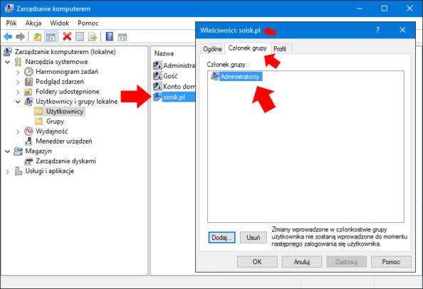 Tylko użytkownik znajdujący się wgrupie Administratorzy może aktywować konto Administratora.
