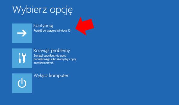 Uruchomienie systemu Windows 10.
