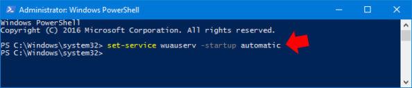 Automatyczne uruchamianie usługi Windows Update