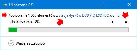 Kopiowanie zawartości obrazu dysku (pliku ISO) napamięć USB.
