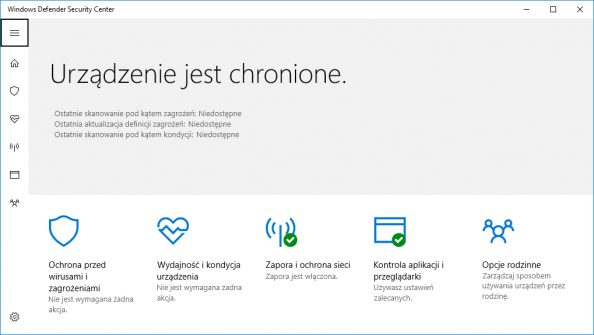 Windows Defender Security Center.