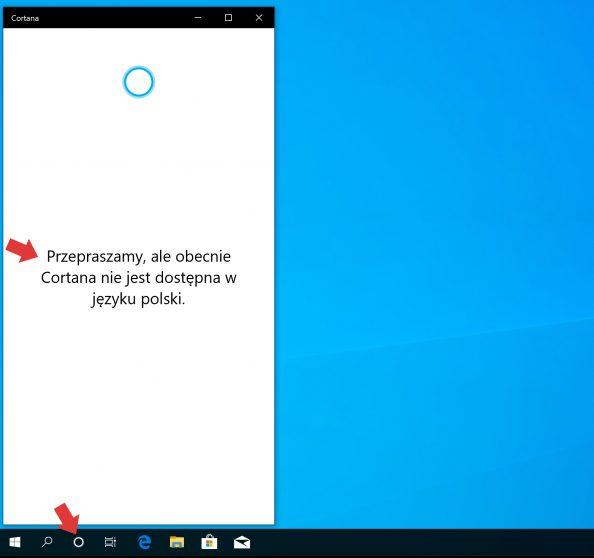 Cortana wpolskiej wersji językowej.
