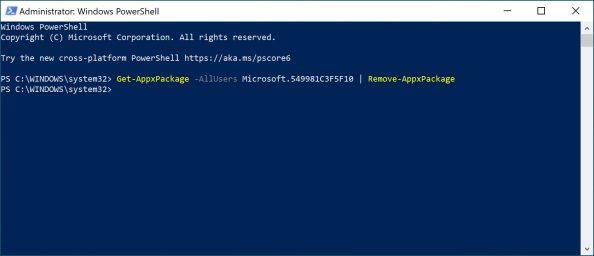 Usunięcie Cortany zsystemu Windows 10.