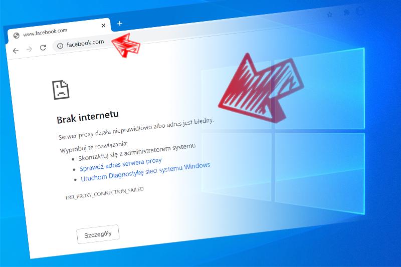 Blokowanie popularnych stron internetowych w systemie Windows 10.