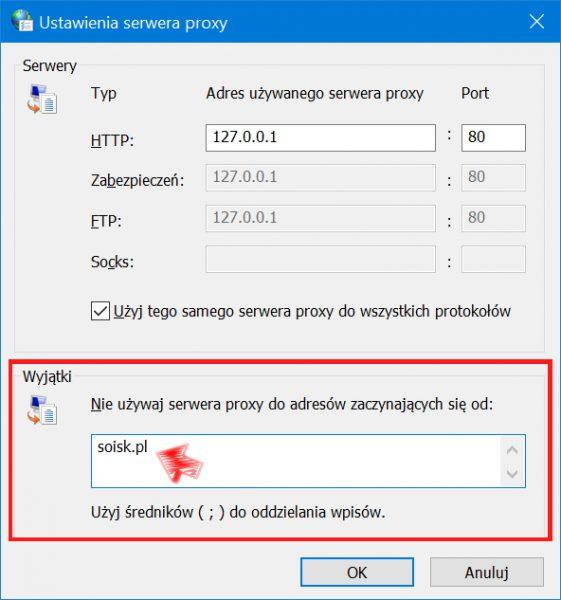 Blokowanie popularnych stron internetowych wsystemie Windows 10.