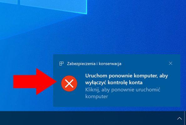 Zastosowanie zmian wymaga ponownego uruchomienia komputera.