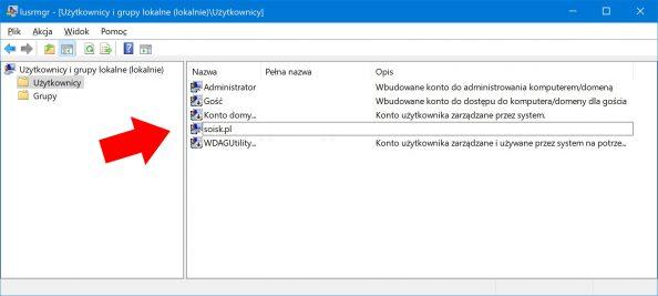 Usuwanie konta użytkownika wsystemie.