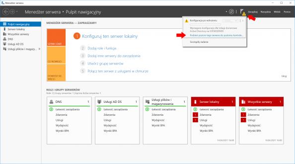 Konfigurowanie ról ifunkcji przy użyciu Menedżera Servera.