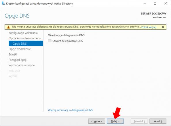Konfiguracja usług domenowych Active Directory wsystemie Windows Server 2019.